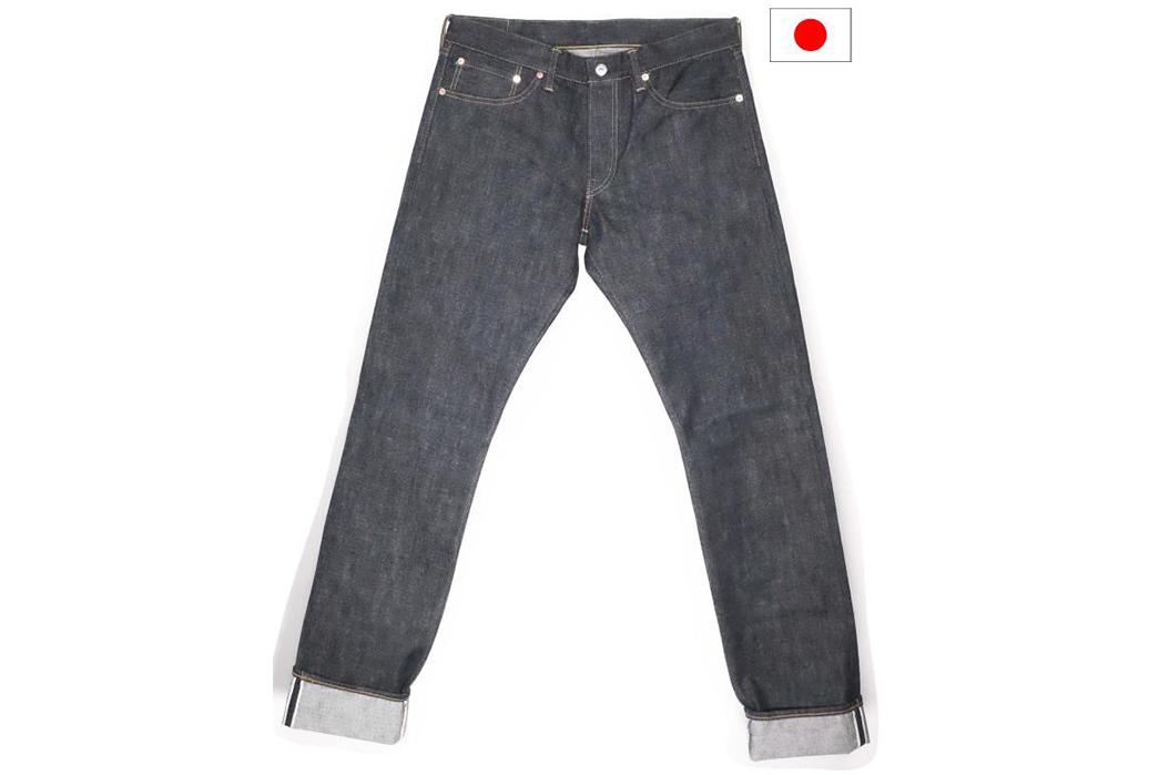 TCB-Slim-50's-Raw-Denim-Jeans-front