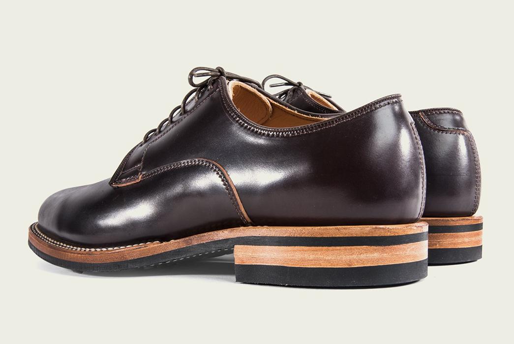 Viberg's-Digs-Their-Heels-Into-Shell-Cordovan-Derbies-brown-2-pair-back-side