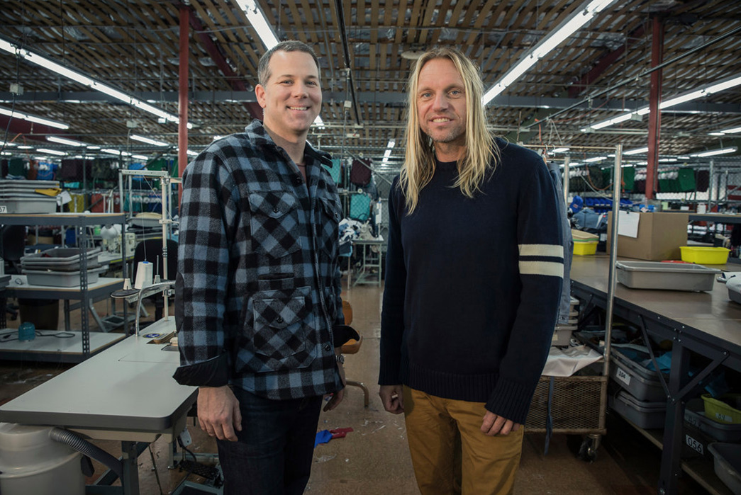 Birdwell-Beach-Britches-Brand-Profile-New-owners-Geoff-Clawson-and-Natas-Kaupas-in-Birdwell's-Santa-Ana-production-facility.-Image-via-The-New-York-Times.