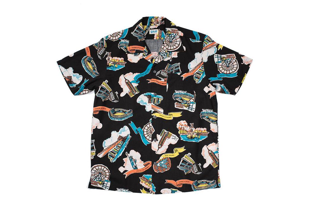 Schott-Hawaiian-Shirts-black-front