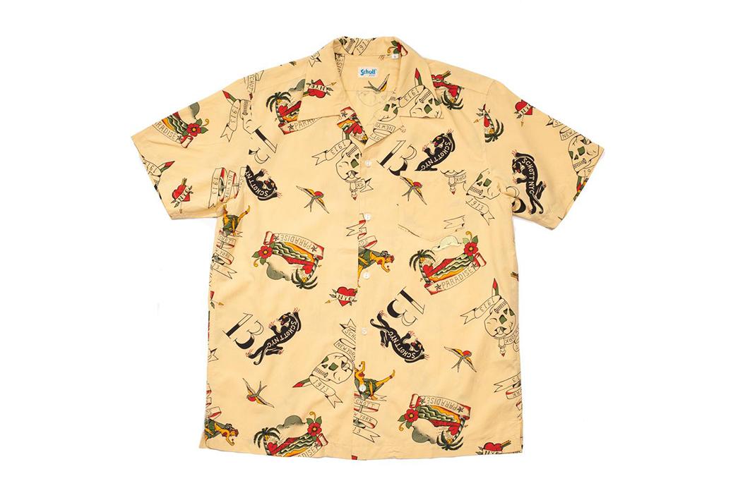 Schott-Hawaiian-Shirts-yellow front