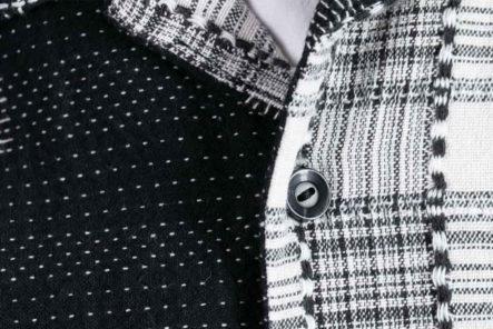 Short-Sleeve-Patchwork-Shirts---Five-Plus-One-Plus-One---Tigre-Brocante-Sashiko-Patchwork-Shirt-detailed