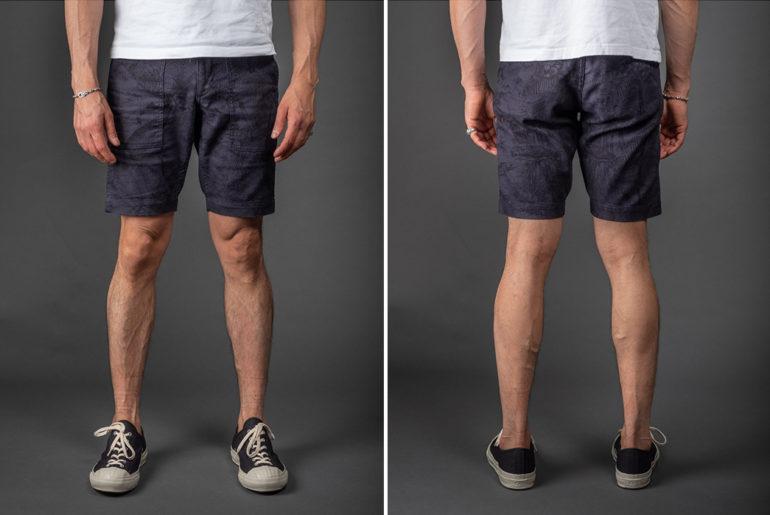 The-Flat-Head-Bird-&-Palm-Tree-Shorts-model-frotn-back</a>
