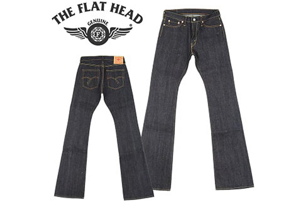 The-Guide-to-Every-Raw-Denim-Boot-Cut-Jean-Flat-Head-3007.-Image-via-Rakuten.