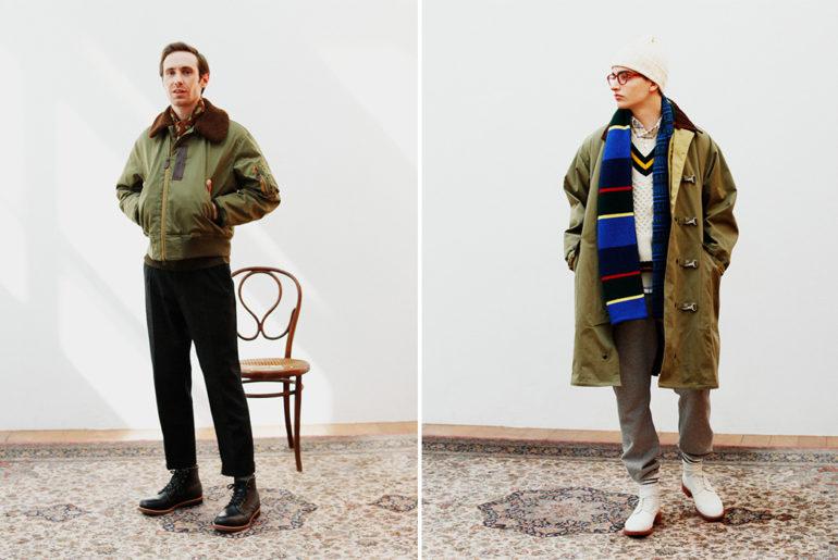Beams-Plus-2019-Autumn-Lookbook-model-green-jackets</a>