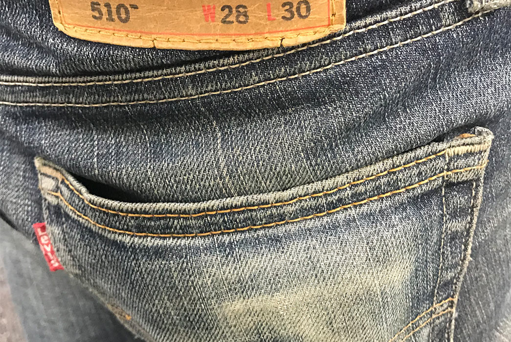 Fade of the Day - Levi's 510 Rigid Dragon (2 Years, Unknown Washes) pocket