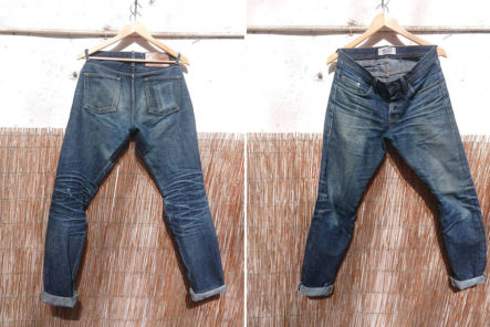 Fade-of-the-Day---Naked-&-Famous-Weird-Guy-Okayama-Spirit-3-(13-Months,-3-Washes,-1-Soak)-front-and-back
