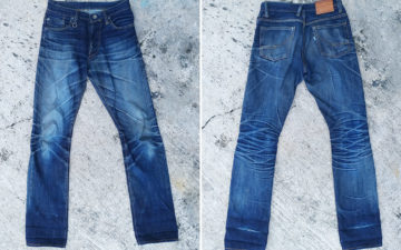 Fade-of-the-Day---TrackON-Denim-Wanderlust-X-Deep-Indigo-Ringslub-(15-Months,-1-Wash,-2-Soaks)-front-back