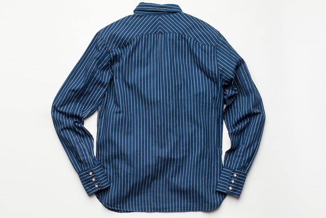 Freenote Cloth Calico Shirt in Estate Indigo back