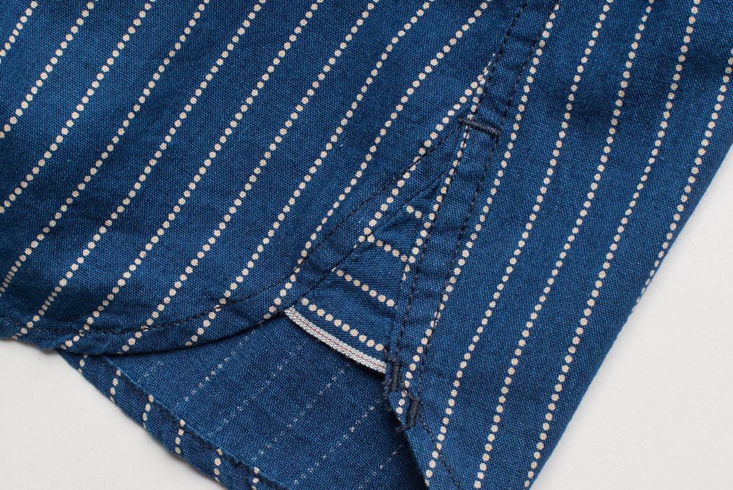 Freenote Cloth Calico Shirt in Estate Indigo selvedge