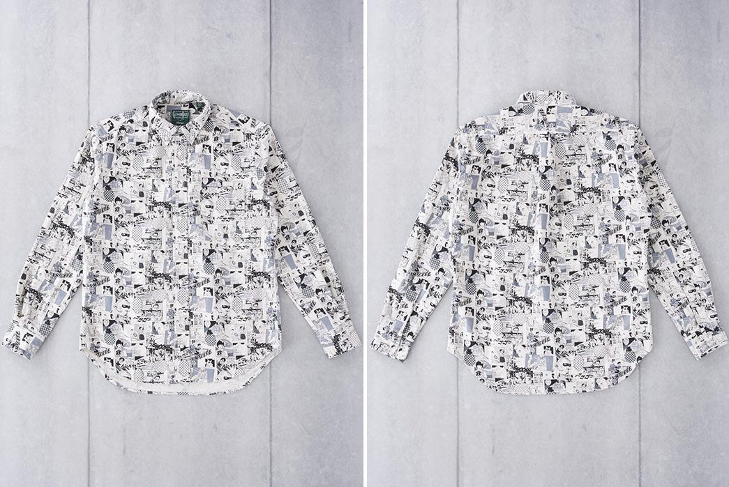 Gitman-Vintage-Introduces-a-Winter-Linen-Shirt-in-a-Wild-Anime-Print-noir-front-back