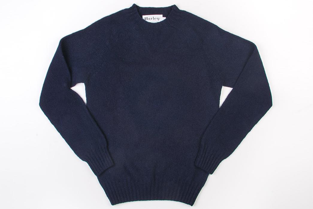 Harley-of-Scotland-Shetland-Sweaters-dark-blue