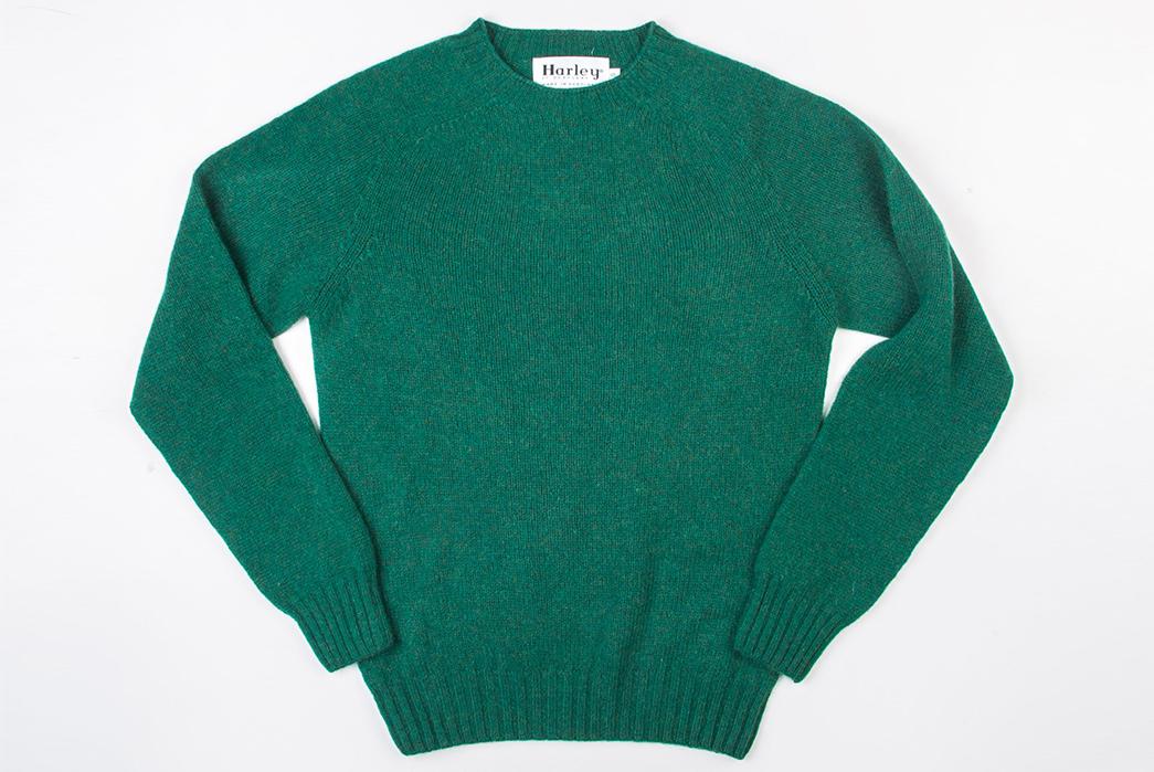 Harley-of-Scotland-Shetland-Sweaters-green