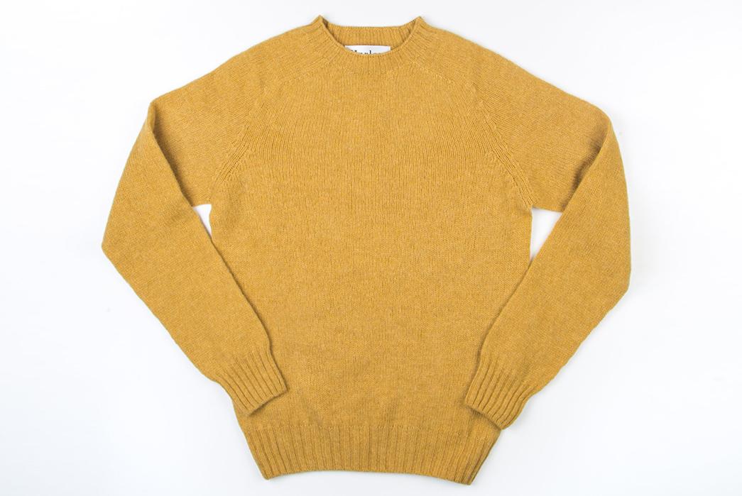 Harley-of-Scotland-Shetland-Sweaters-yellow