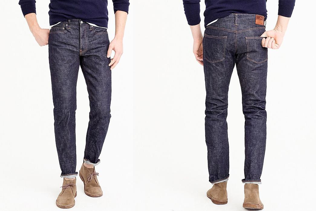 J.-Crew-770-Straight-Fit-Stretch-Raw-Denim-Jeans-model-front-back