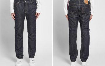 Junya-Watanabe-Man-x-Levi's-Double-Pocket-Jean-model-front-back