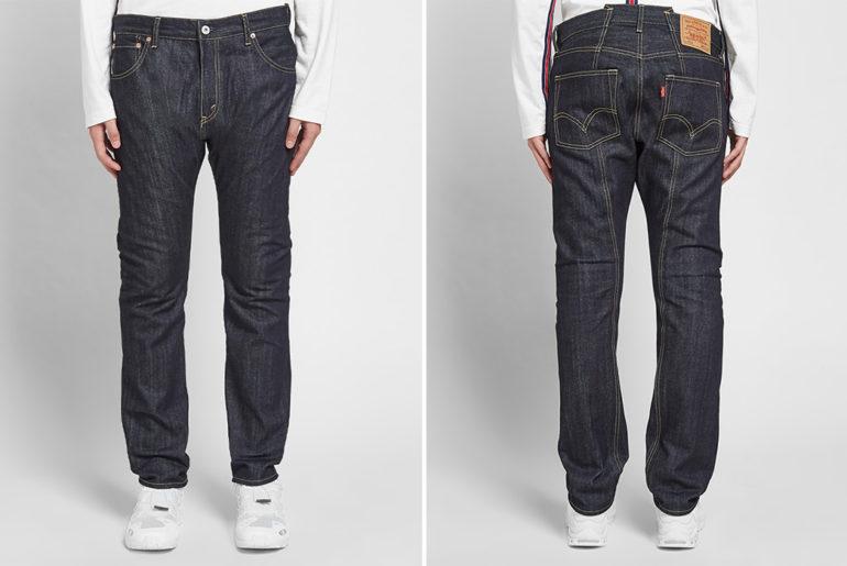 Junya-Watanabe-Man-x-Levi's-Double-Pocket-Jean-model-front-back</a>