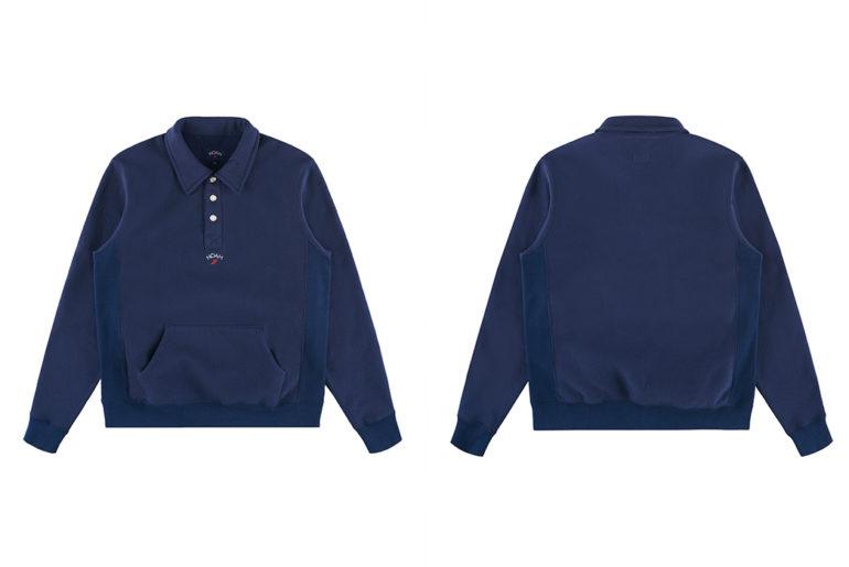 Noah Coaches Collar Crewneck blue front-and-back-3</a>