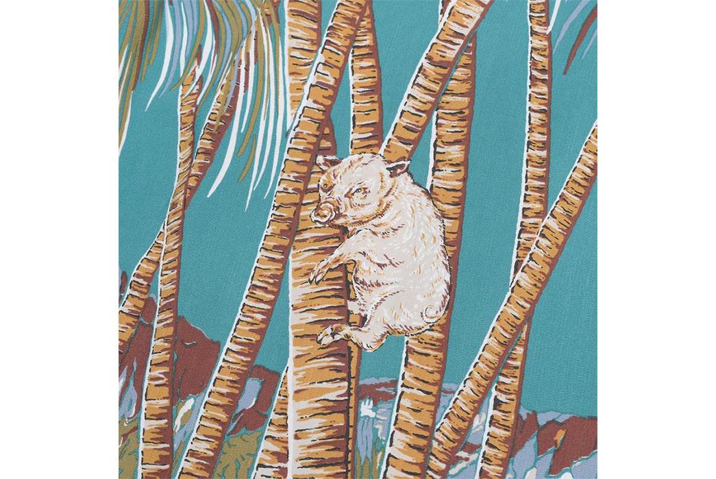 Studio-D'artisan-40th-Anniversary-Aloha-Shirts-green-detailed