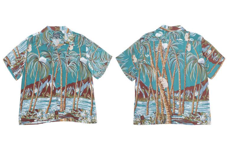 Studio-D'artisan-40th-Anniversary-Aloha-Shirts-green-front-back</a>