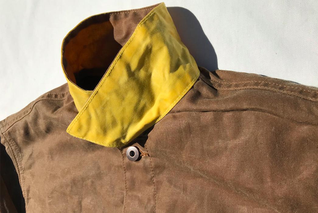 Tellason-British-Waxed-Canvas-Coverall-Jackets-brown-collar