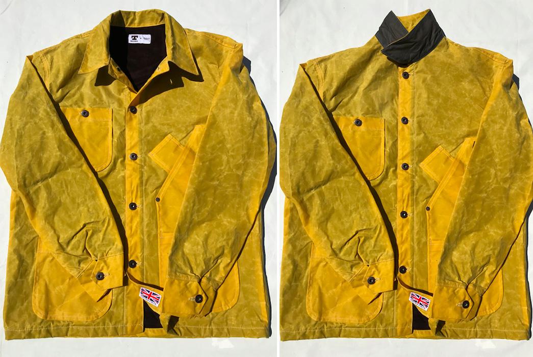 Tellason-British-Waxed-Canvas-Coverall-Jackets-yellow-fronts