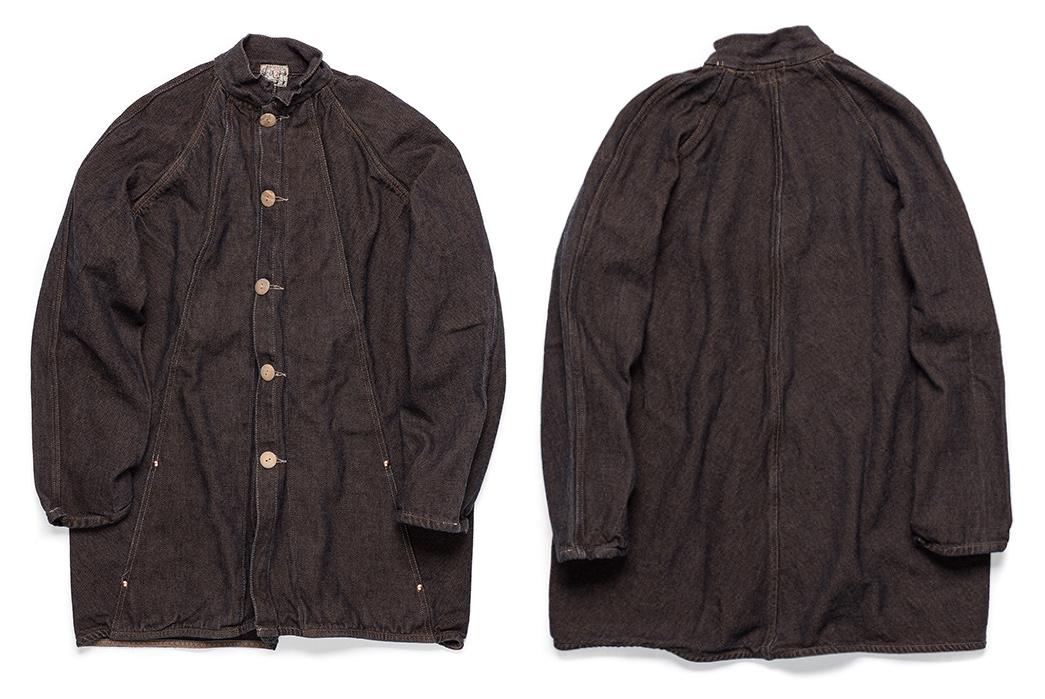 Tender's-Zoetrope-Coat-Uses-Origami-Magic-dark-brown-front-back