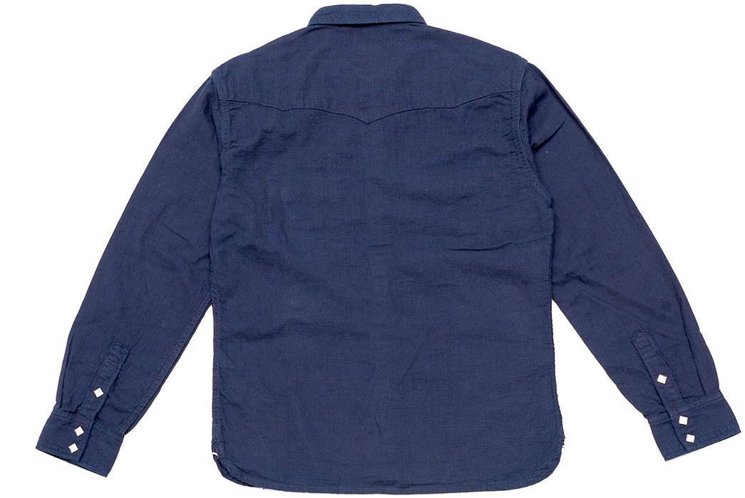 The-Flat-Head-8oz.-Indigo-Dobby-Western-Shirt-back