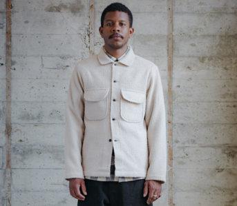 Evan-Kinori-Casentino-Wool-Field-Shirt-male-model-front-jacket
