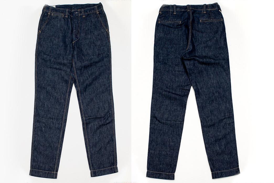 Freewheelers-M-1942-9.5oz.-Denim-Trousers-front-back
