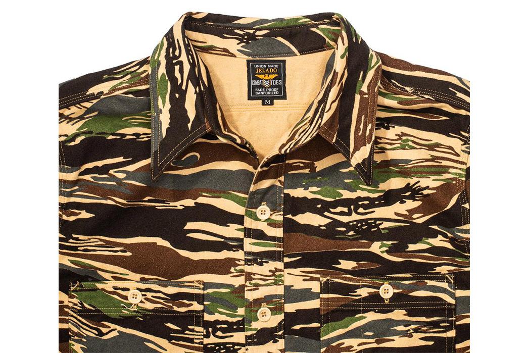 Jelado-CT41140-Mimic-Shirt-Tiger-Duck-Camo-front-top