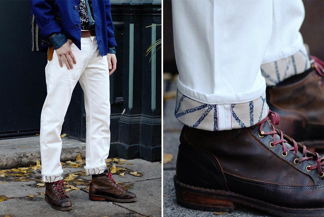 Light-Hue-Selvedge-Jeans---Five-Plus-One-Plus-One---Kiriko-Made-White-Selvedge-with-Parital-Asanoha-Lining