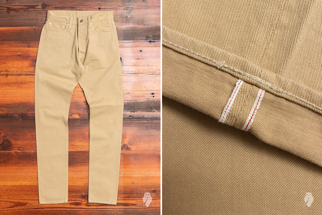 Light-Hue-Selvedge-Jeans---Five-Plus-One 1) Pure Blue Japan: Beige Chino
