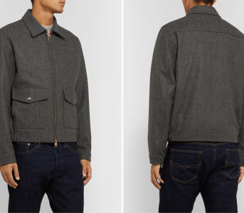 Private-White-V.C.-Prince-of-Wales-Checked-Merino-Wool-Bomber-Jacket-model-front-back