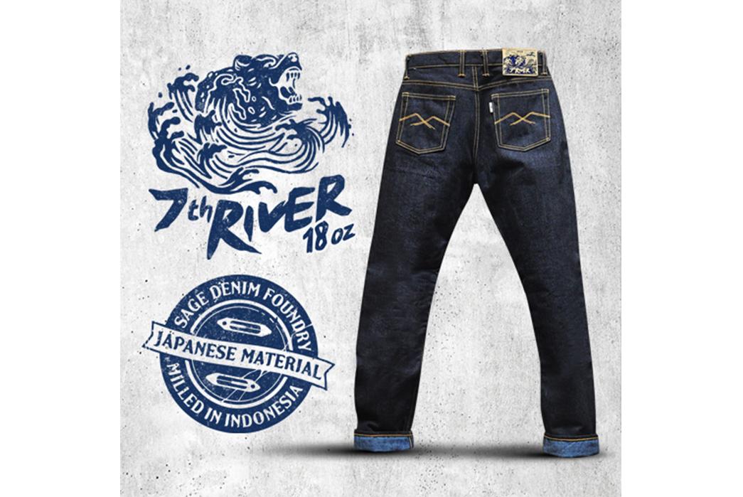 Sage-Celebrates-7-Years-with-18oz.-of-Unsanforized-Tinted-Denim-blue-brand