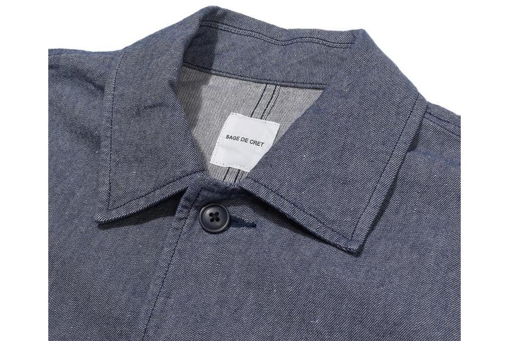 Sage-de-Cret-Military-Shirts-grey-front-collar