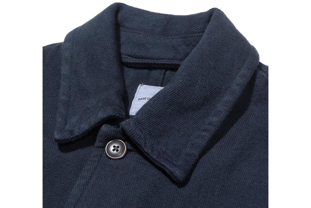Sage-de-Cret-Military-Shirts-navy-front-collar