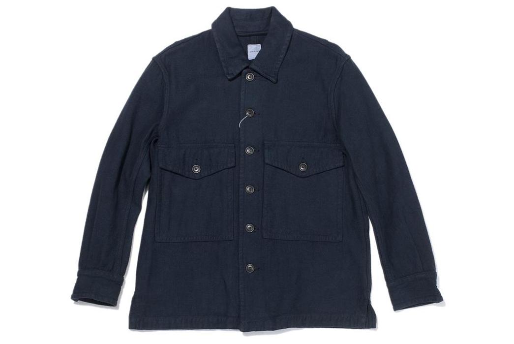 Sage-de-Cret-Military-Shirts-navy-front