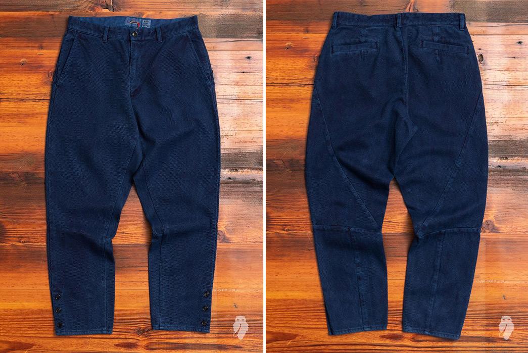 Sashiko-Pants---Five-Plus-One-Plus-One---Blue-Blue-Japan-Fine-Sashiko-Hunting-Pants-front-back
