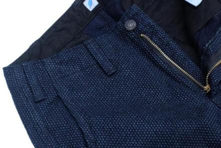 Sashiko-Pants---Five-Plus-One-Plus-One---Blue-Blue-Japan-Fine-Sashiko-Hunting-Pants-front-zipper