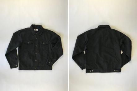 Tellason-Jean-Jacket-8oz.-Japanese-Marcella-black-front-back