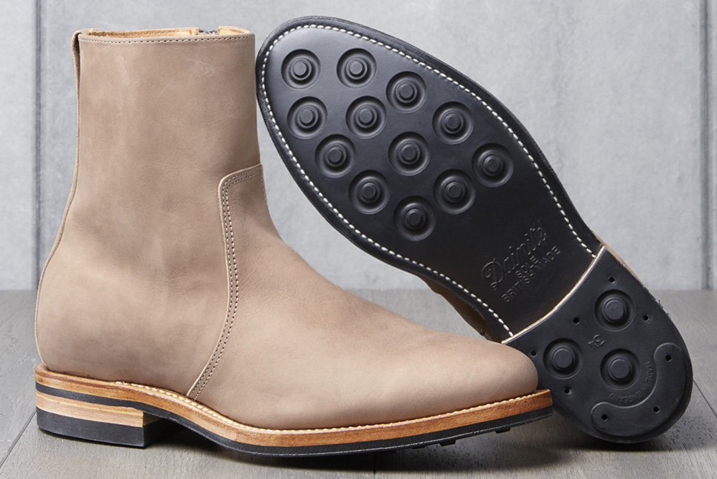 Viberg-x-Division-Road-Side-Zip-Boot-pair-one-bottom