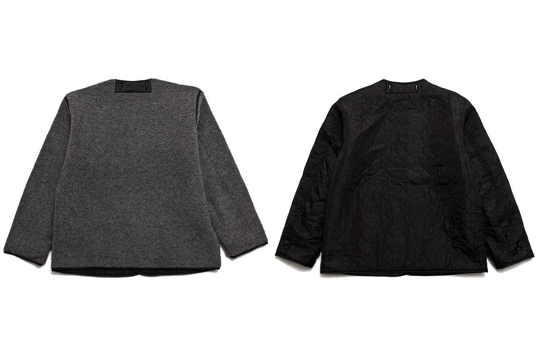 Beams-Plus-Line-Up-a-Reversible-M-65-Liner-grey-and-black-backs