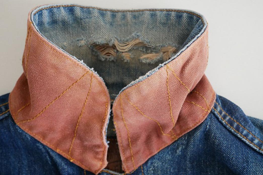 Fade Friday - Denim Error Workwear Jacket Lot 1 (3 years, 1 wash, Unknown Soaks) collar up