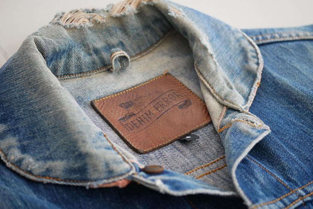 Fade Friday - Denim Error Workwear Jacket Lot 1 (3 years, 1 wash, Unknown Soaks) collar