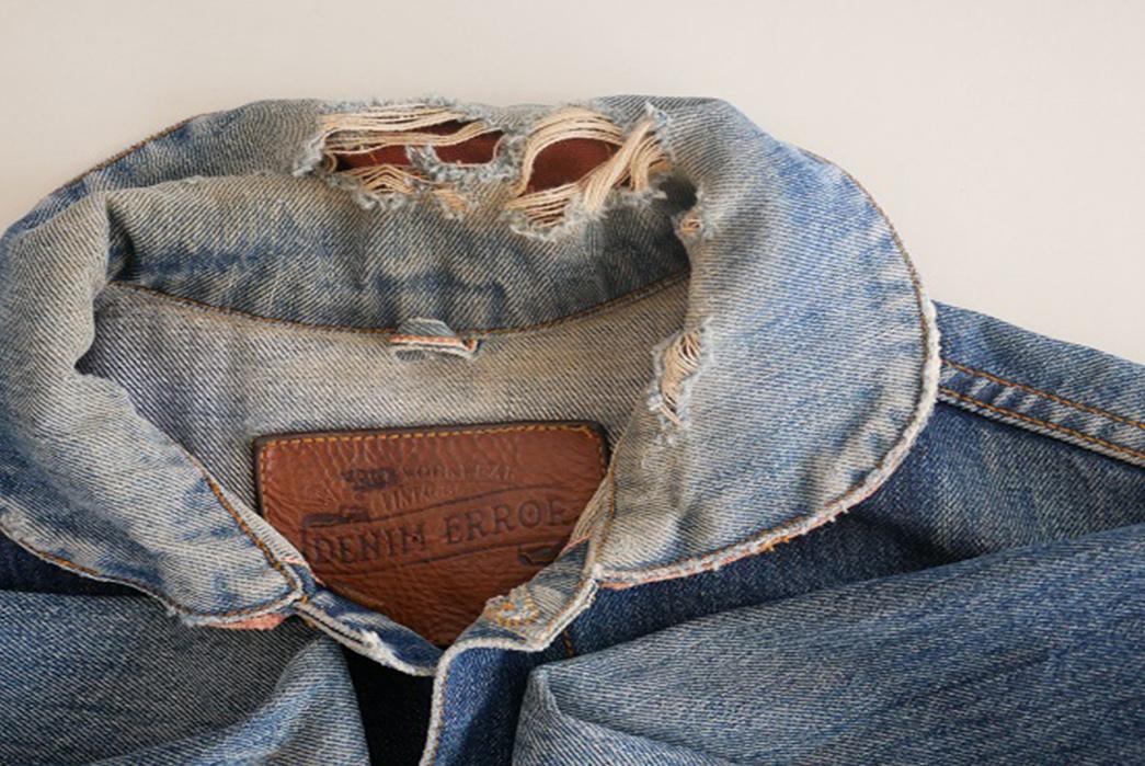 Fade Friday - Denim Error Workwear Jacket Lot 1 (3 years, 1 wash, Unknown Soaks) collr down