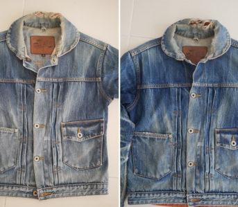 Fade Friday - Denim Error Workwear Jacket Lot 1 (3 years, 1 wash, Unknown Soaks) fronts