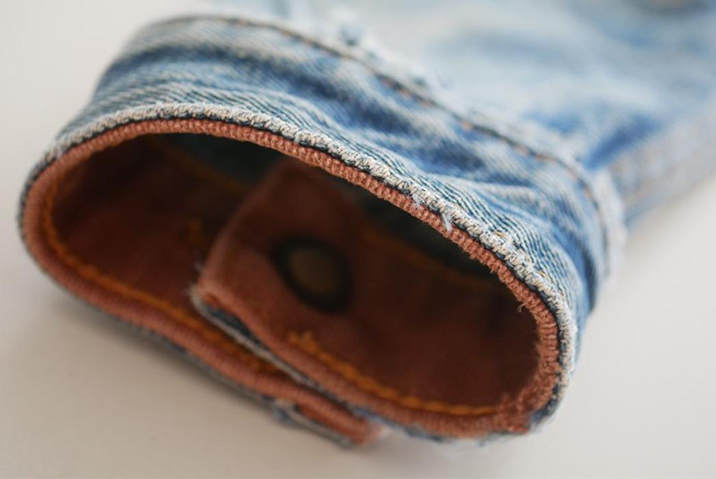 Fade Friday - Denim Error Workwear Jacket Lot 1 (3 years, 1 wash, Unknown Soaks) sleeve