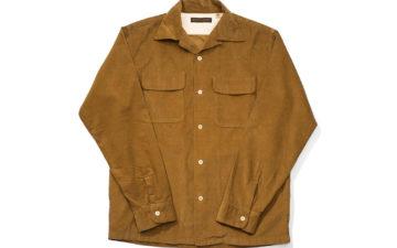 Fullcount-4026-Corduroy-Open-Collar-Shirt-light-brown-front