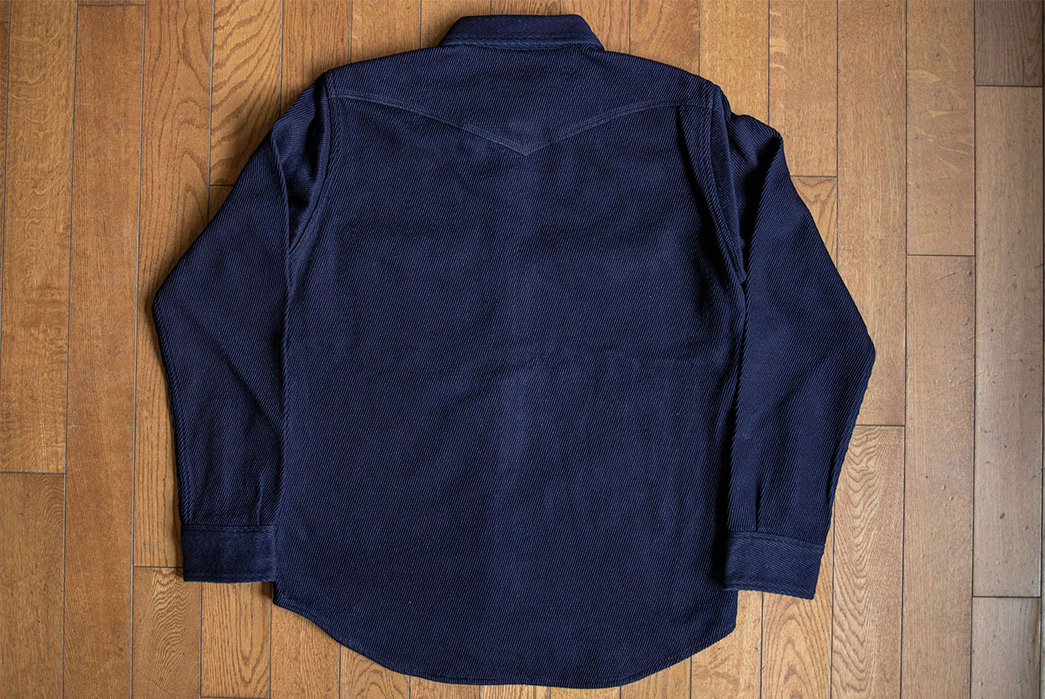 Iron Heart Look Back to Medieval England For Their Kersey Western Shirt back